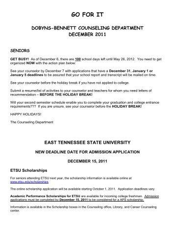 GO FOR IT - Dobyns-Bennett High School - Website