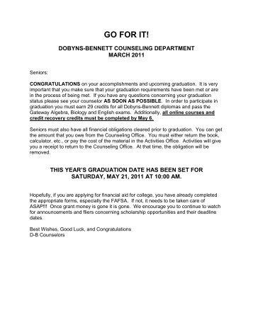 GO FOR IT - Dobyns-Bennett High School