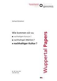 Nachhaltiger Kultur? - Wuppertal Institut