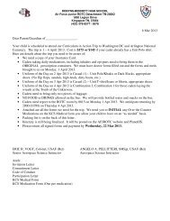 Your child is scheduled to attend our Curriculum in ... - afjrotc - Website