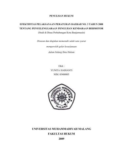 Universitas Muhammadiyah Malang Fakultas Hukum 2009