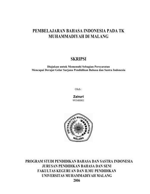 File Pendahuluan Pdf Universitas Muhammadiyah Malang