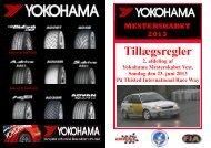 Tillægsregler for deltagere - Morsø Motor Sport