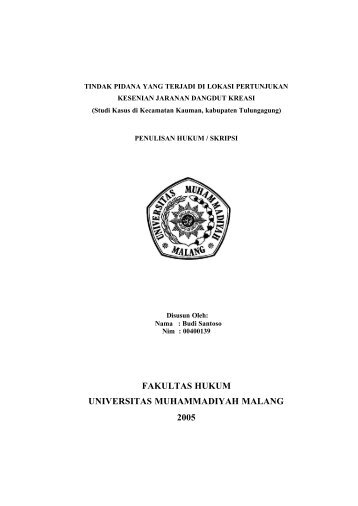 File : PENDAHULUAN.pdf - Universitas Muhammadiyah Malang