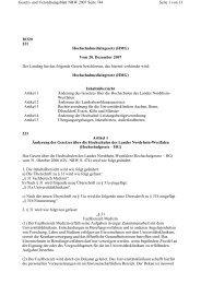 Hochschulmedizingesetz - an der Universität Duisburg-Essen