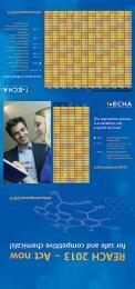 REACH 2013 calendar - ECHA - Europa