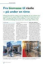 Fra biomasse til råolie – på under en time - Biopress