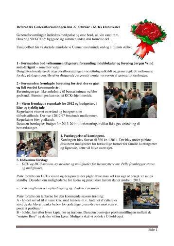 2013 Referat fra Generalforsamlingen den 27 - Kerteminde cykelklub