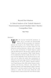 Beyond Post-Islamism A Critical Analysis of the Turkish Islamism's ...