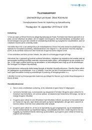 Uanmeldt tilsyn - Socialpsykiatrisk Center for vejledning og ...
