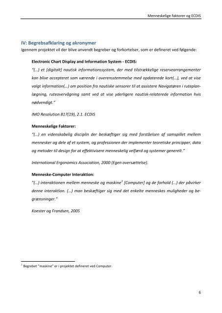 Menneskelige Faktorer og ECDIS - Simac