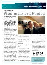 Viser muskler i Norden Mirror Accouting - Bedriftprofilen