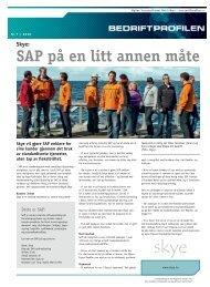 SAP på en litt annen måte - Bedriftprofilen