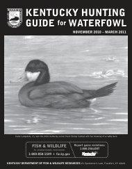 KENTUCKY HUNTING - Kentucky Department of Fish and Wildlife ...