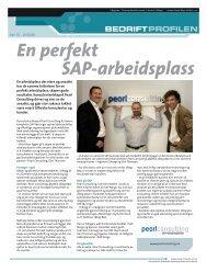 En perfekt SAP-arbeidsplass - Bedriftprofilen