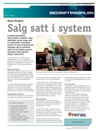 Neras Direkte: Salg satt i system - Bedriftprofilen