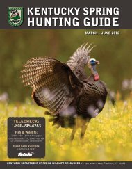 hunting guide - Kentucky Department of Fish and Wildlife Resources