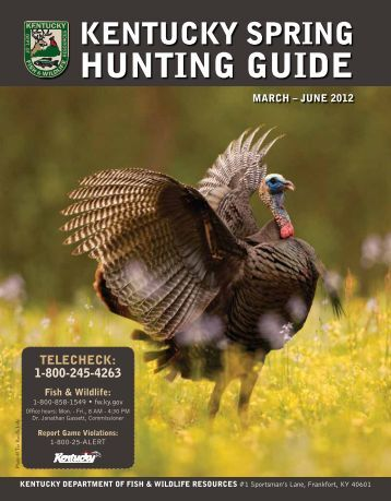 Wildlife hunting practices and bushmeat dynamics of the for Ky dept fish and wildlife