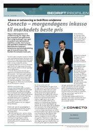 Conecto – morgendagens inkasso til markedets ... - Bedriftprofilen