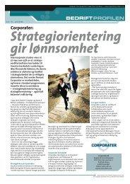 Strategiorientering gir lønnsomhet - Bedriftprofilen