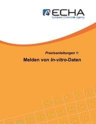 Praxisanleitungen 1: Melden von In-vitro-Daten - ECHA - Europa