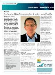Ledende HVAC-leverandør i vekst worldwide Mollier - Bedriftprofilen