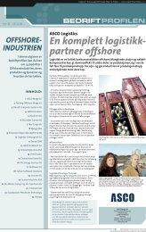 En komplett logistikk- partner offshore - Bedriftprofilen