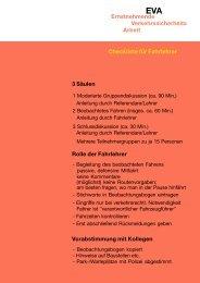 Checkliste für Fahrlehrer
