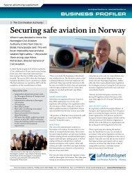 Securing safe aviation in Norway - Bedriftprofilen