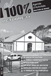 Octubre 2011 (PDF) - Ajuntament de Sant Feliu de Guíxols
