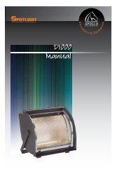 D1000 Manual - Apollo Design Technology
