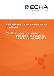 Nutzerhandbuch für die Einreichung von Daten - ECHA - Europa