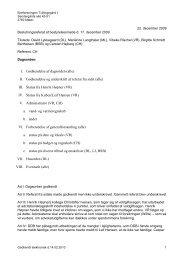 II. Godkendelse og underskrift af referat fra sidst (alle)