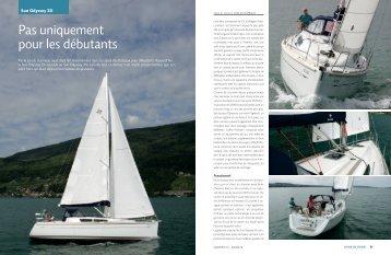 """SunOdyssey33i """"Pas uniquement pour les débutants"""" - bateau24.ch"""