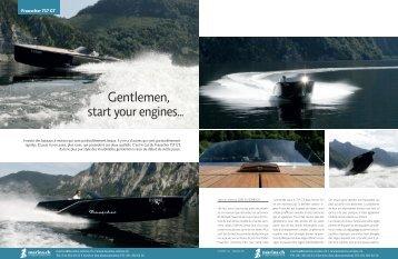 Gentlemen, start your engines… - Marina.ch