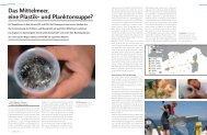 Das Mittelmeer, eine Plastik- und Planktonsuppe? - marina.ch