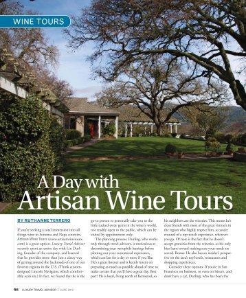 Luxury Travel Advisor Magazine features Artisan Wine Tours - GoExpo