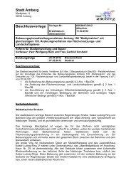 Stadt Amberg Beschlussvorlage Vorlage-Nr: