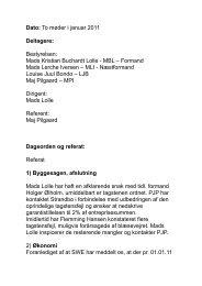 Dato: To møder i januar 2011 Deltagere: Bestyrelsen: Mads Kristian ...