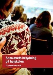 Samværets betydning på højskolen - Nationalt Videncenter For Frie ...