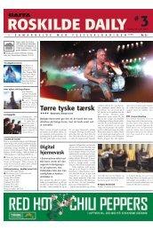 Tørre tyske tærsk - Roskilde Festival