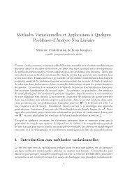 Méthodes Variationnelles et Applications `a Quelques Probl`emes d ...