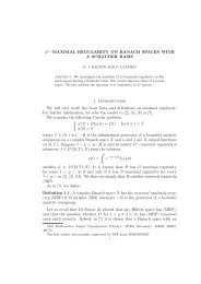 Lp−MAXIMAL REGULARITY ON BANACH SPACES WITH A ...