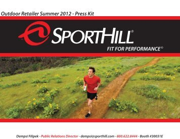 SportHill Summer OR 2012 Press Kit - GoExpo