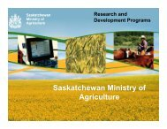 Sask Ministry of Agriculture Research ... - Ag-West Bio Inc.