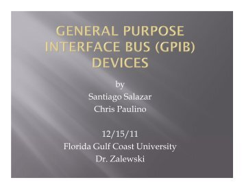 General Purpose Interface Bus in Data Acquisition and Control