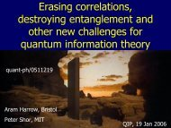Erasing correlations, destroying entanglement and other new ...