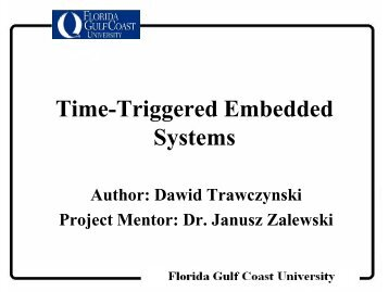 Time-Triggered Embedded Systems - Academic and Event ...