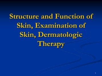 Principles of Dermatological Diagnosis - Dermatology