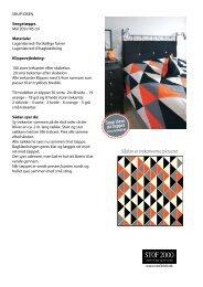 Snup ideen på tæppet Sådan er trekanterne placeret - Stof 2000